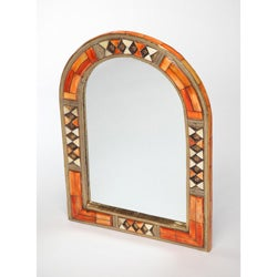 Hand-Carved Henna Bone Mirror (Morocco)