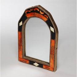 Hand-Carved Bone Mirror (Morocco)