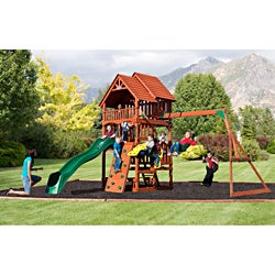Backyard Discovery Highlander All Cedar Swing Set