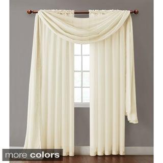 Victoria Classics Infinity Sheer Rod Pocket Curtain Panel