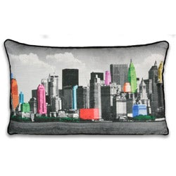 Neon NY Cityscape 12x20-inch Pillow