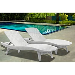 Mykonos Loungers White - Pack of 2