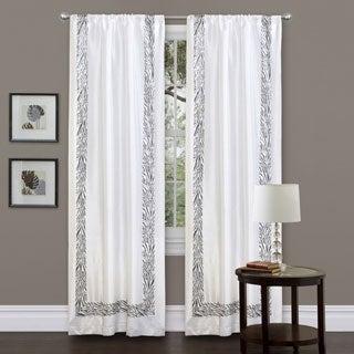 Lush Decor Grey Urban Savanna 84-inch Curtain Panel