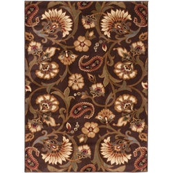 Elegance Collection Brown Area Rug (7'6' x 9'10)