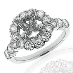 14k White Gold 1 2/5ct TDW Diamond Semi-mount Engagement Ring (G-H, SI1/SI2)