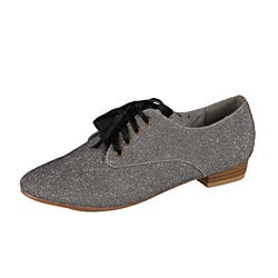 Modesta by Beston Women's 'Maya-03' Pewter Oxfords