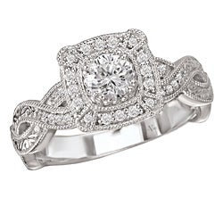 Avanti 14k White Gold 1/3ct TDW Diamond Engagement Ring (G/H, SI1-SI2)