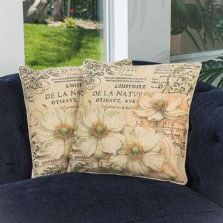 Christopher Knight Home Flower Script Pillows (Set of 2)