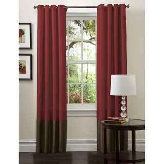 Lush Decor Prima Red/ Chocolate Curtain Panels (Set of 2)