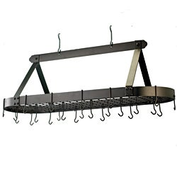 Old Dutch Oval Oiled Bronze 24-hook Pot Rack