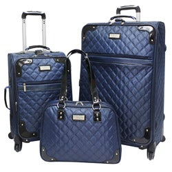 Beverly Hills Country Club BH4800 3-piece Quilted Spinner Luggage Set