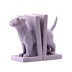 Purple Feist Dog Bookend