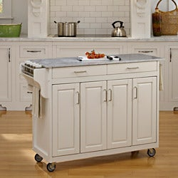 Home Styles Create-a-Cart White Finish with Marble Top