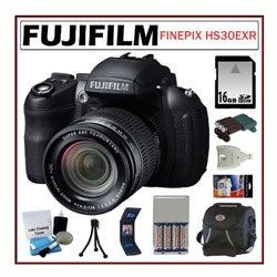Fujifilm FinePix HS30EXR 16MP Digital Camera 16GB + Accessory Kit