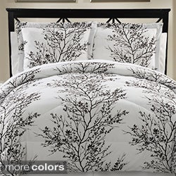 Reversible Leaf 8-piece Bed in a Bag with Sheet Set