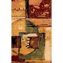 Hand-tufted Monet Cityscape Multi Rug (9'6 x 13'6)