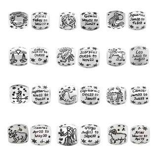 De Buman Sterling Silver Zodiac Sign Charm Bead