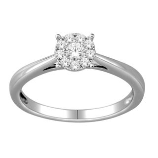 10k White Gold 1/4ct TDW Imperial Diamond Ring (H-I, I2)