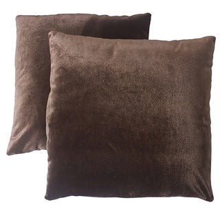 ABBYSON LIVING Charisma 18-inch Brown Decorative Pillows (Set of 2)
