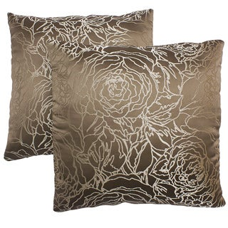 ABBYSON LIVING Athena 18-inch Taupe Decorative Pillows (Set of 2)
