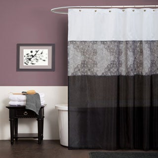 Lush Decor Anita Grey Shower Curtain