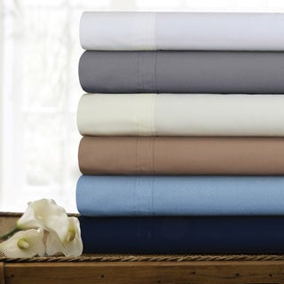 Egyptian Cotton Percale 300 Thread Count Deep Pocket Sheet Set with Oversize Flat Sheet or Pillowcases Seperates