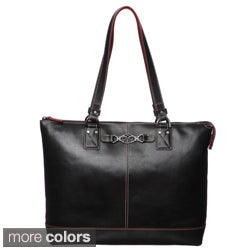 Johnston & Murphy Women's Leather Zip Tote Handbag
