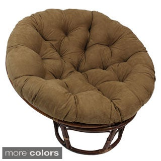 International Caravan Bali 42-Inch Rattan Papasan Chair with Cushion