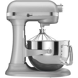 KitchenAid Pro Metallic Chrome 600 6-Quart Bowl-Lift Stand Mixer (Refurbished)