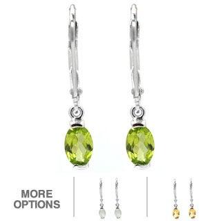 De Buman Sterling Silver Gemstone Earrings