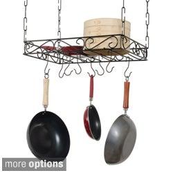 Concept Housewares Black Metal Wire Pot Rack