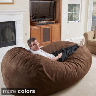 Christopher Knight Home Larson Faux Suede 8-foot Lounge Beanbag Chair