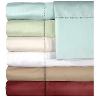 Grand Luxe Egyptian Cotton Bellisimo 500 Thread Count Deep Pocket Sheet Separates or Pillowcase Pair Separates