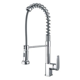 Ruvati RVF1216CH Commercial Style Pullout Spray Polished Chrome Kitchen Faucet
