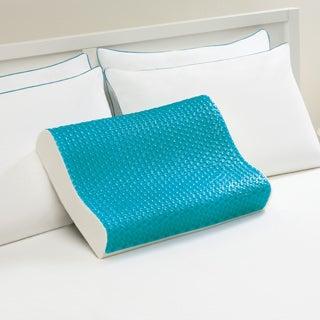 Comfort Memories Blue Bubble Memory Foam and Gel Contour Pillow