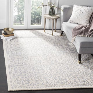Safavieh Handmade Moroccan Cambridge Silver Wool Rug (6' x 9')