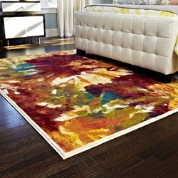 Skye Monet Flame Rug (7'7 x 10'5)