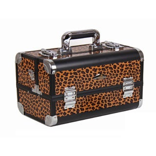 Shany Leopard Texture Premium Collection Makeup Train Case