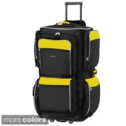Traveler's Club Yellow and Black 29-inch Rolling Upright Duffel Bag