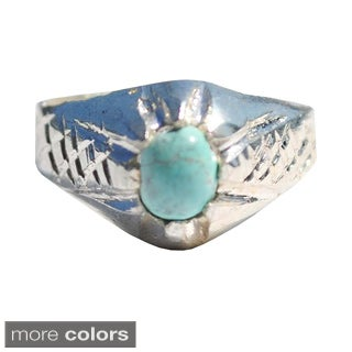 Handcrafted Tribal Sterling Silver Ring (Afghanistan)