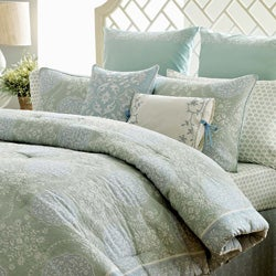 Laura Ashley Lillian Quilted Cotton 3-piece Comforter Set