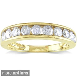 Miadora 14k Gold 1ct TDW Diamond Anniversary Ring (G-H, I1-I2)