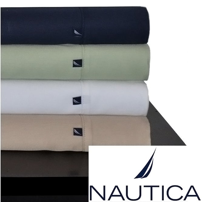 Nautica 100-percent Cotton 300 Thread Count Sheet Set and Pillowcase Separates