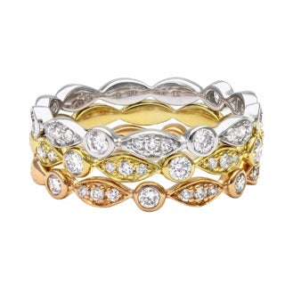 Beverly Hills Charm 14k Gold 1/4ct TDW Diamond Stackable Band Ring (H-I, SI2-I1)