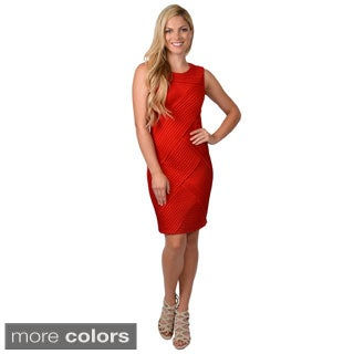 Calvin Klein Women's Sleeveless Pleated Sheath Dress