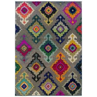 Vibrant Bohemian Grey/ Multi Rug (7'10 x 11')