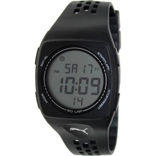 Puma Unisex FAAS 300 PU910991002 Black Digital Light Weight Running Watch