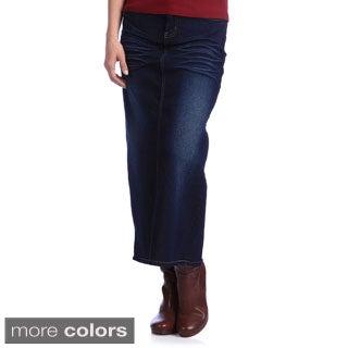 Tabeez Women's Stretch Denim Long Skirt