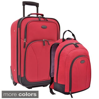 U.S. Traveler by Traveler's Choice Salerno 2-piece Upright and Backpack Carry-on Luggage Set