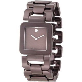 Movado Women's 0606574 'Luma' Brown PVD Stainless Steel Coated Watch